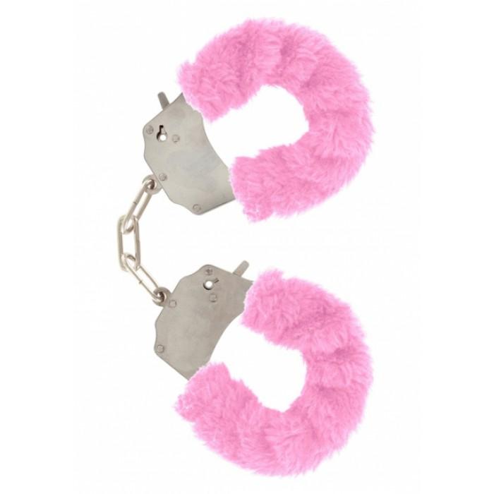 Наручники с мехом Furry Fun Cuffs Pink 9501TJ