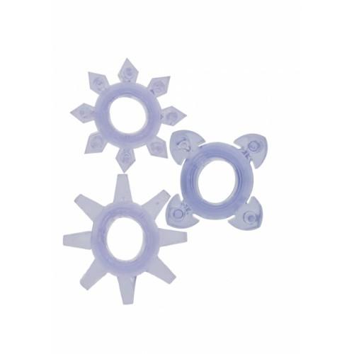 Комплект колец на пенис TICKLE C-RINGS PURPLE 10232TJ