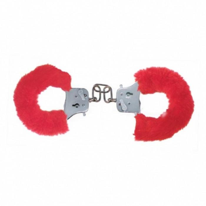 Наручники с мехом Furry Fun Cuffs Red 9504TJ