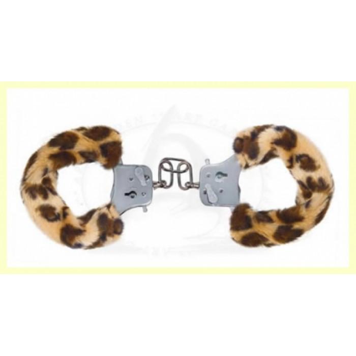 Наручники с мехом Furry Fun Cuffs Leopard 9507TJ