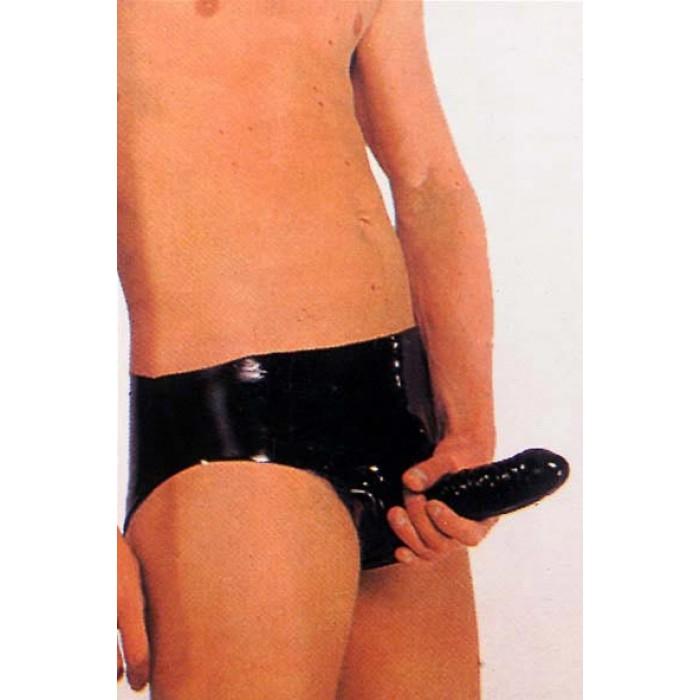 LATEX ANAL PANTS BLACK SMALL