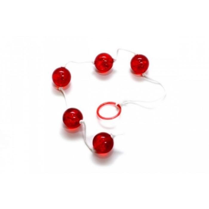 Анальные шарики Clear Anal Beads Large, 2,0 см.