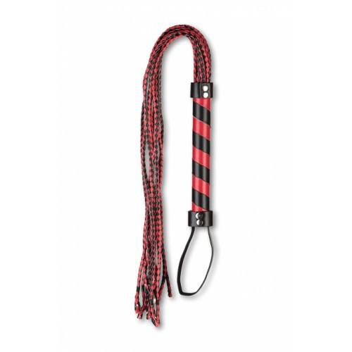 Плеть многохвостовка с черно-красным плетением