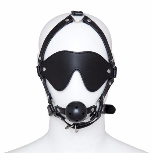 Маска с кляпом и очки-шоры
