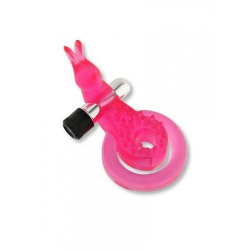 Вибронасадка Rabbit розовая