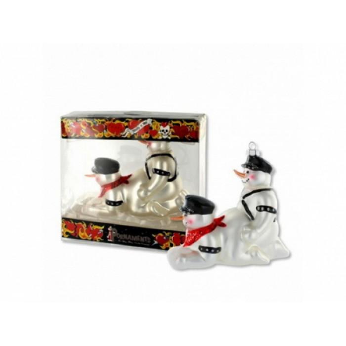 Новогодняя игрушка Страпон снеговики