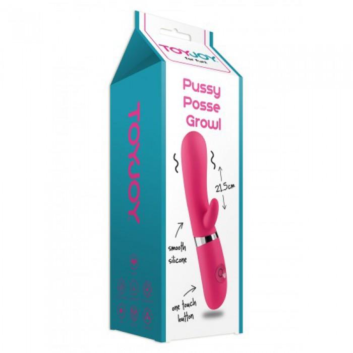Вибратор Pussy Posse Growl, 21,5х3,5 см
