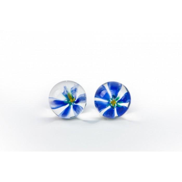 TLC CyberGlass Ben Wa Balls, Blue Blossom