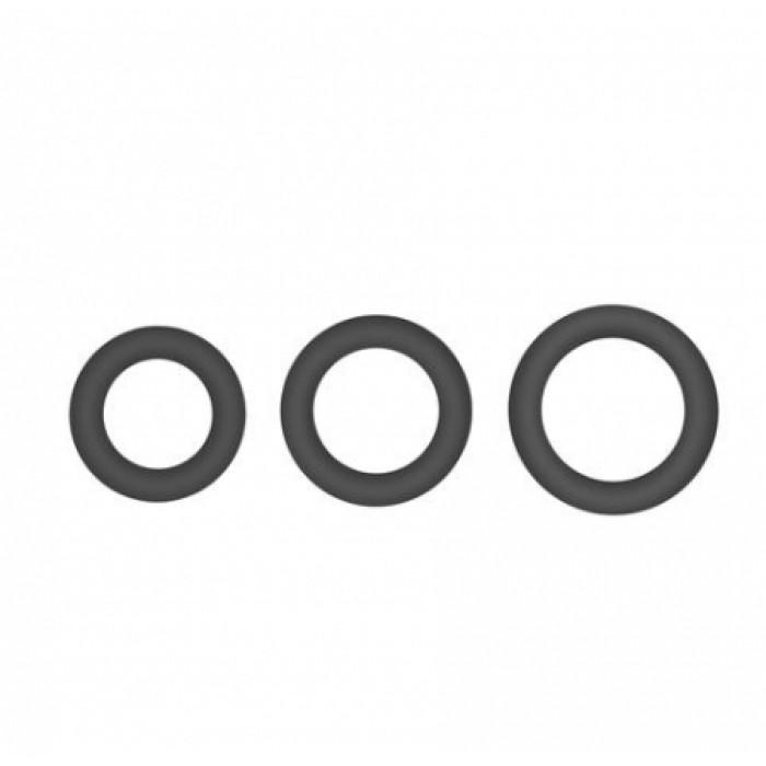 Topco Sales Hombre Snug Fit Silicone Thick C-Rings - набор эрекционных силиконовых колец, 3 шт