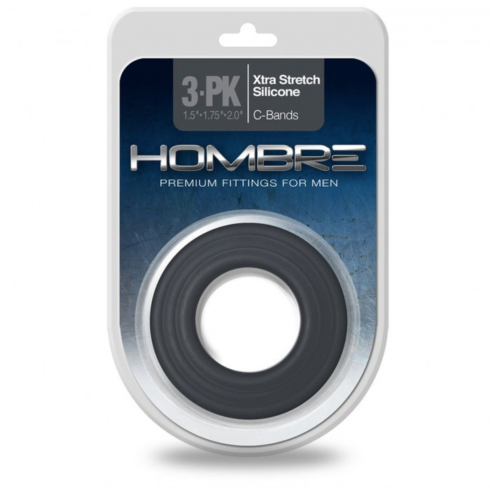 Эрекционные кольца Topco Hombre Xtra Stretch Silicone C-Bands 3-Pack