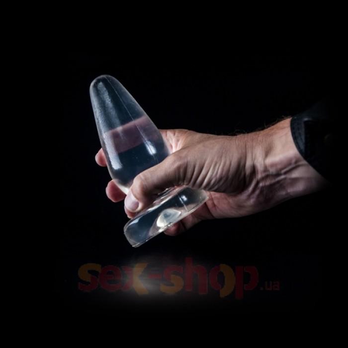 Устойчивая анальная пробка Dark Crystal Neelis Butt от Mister B, 15х2.5-5.8 см