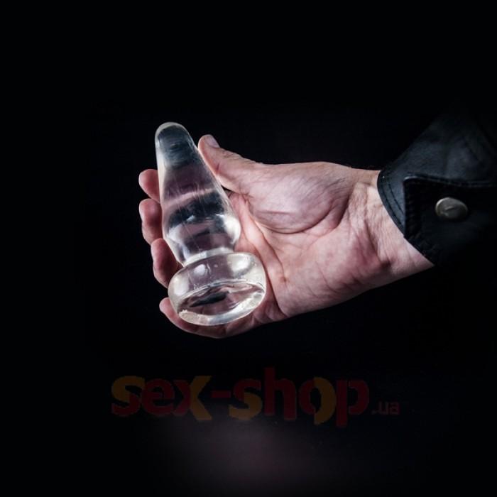 Анальная пробка Dark Crystal Elie от Mister B, 13х2-4.5см