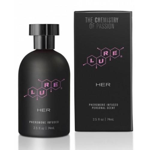 Духи с феромонами Lure Black Label For Her, 74 ml