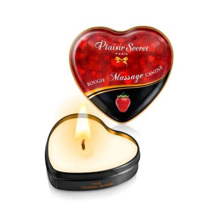 Массажная свеча Клубника Plaisir Secret, 35 мл