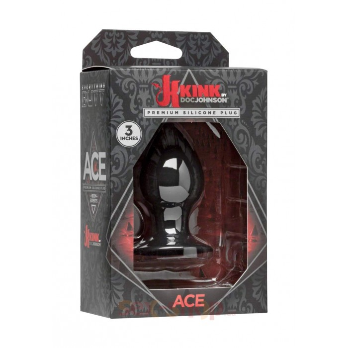 Doc Johnson Kink Ace Plug 3 Inch - анальная пробка, 7,6х3,8 см