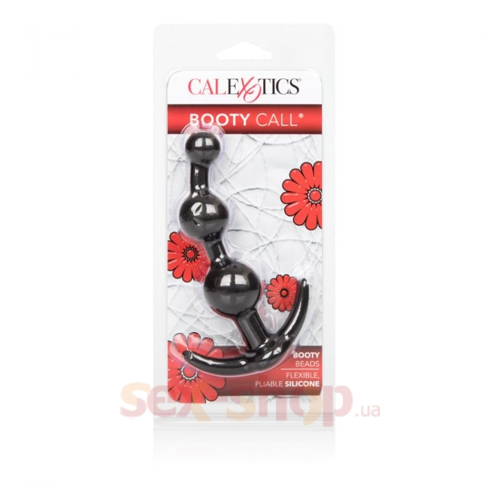 CalExotics Booty Call Booty Beads анальная елочка, 12х3,25 см