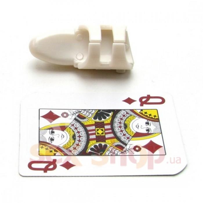 Меленький пластиковый вибратор-перстень Finger Tip