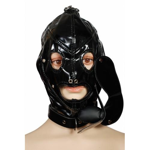 Шлем со съемными кляпом и маской Пикантные Штучки