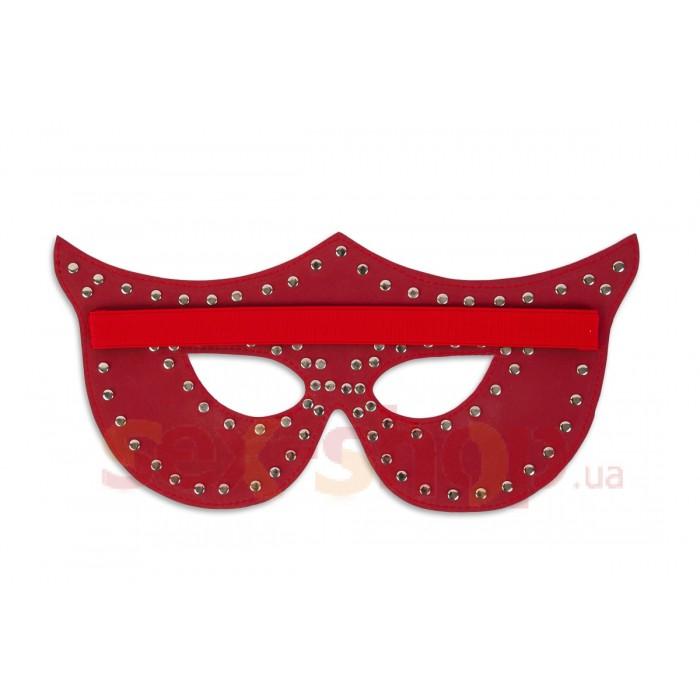 Таинственная маска с заклепками, красная