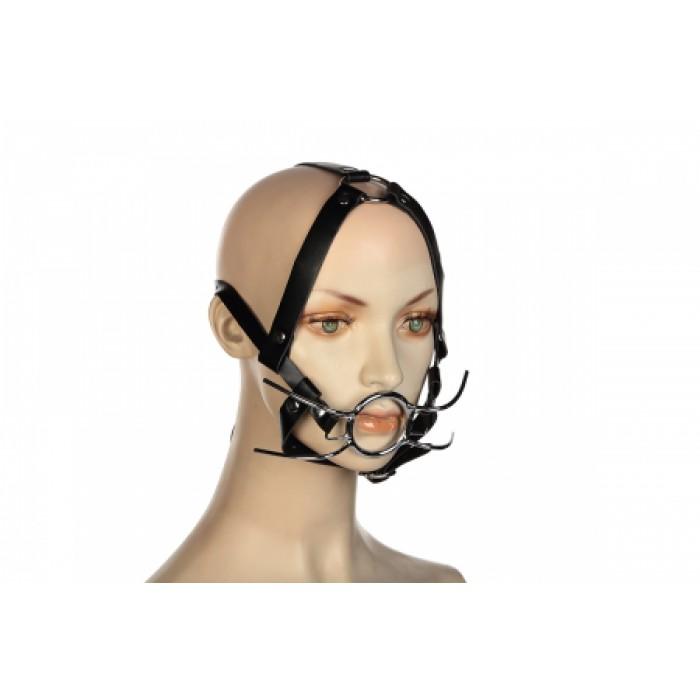 Кляп расширитель с кольцом и бондажем на голову