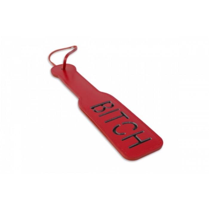 Шлепалка, с рельефной надписью, красная