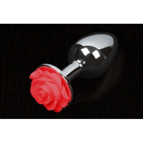 Пикантные Штучки Rose Large - большая анальная пробка, 8.5х4 см