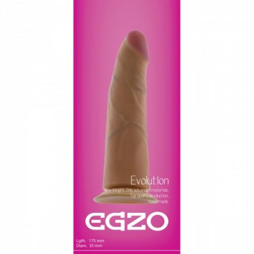 Фаллоимитатор на присоске Egzo G1220 17,5х3,5 см.