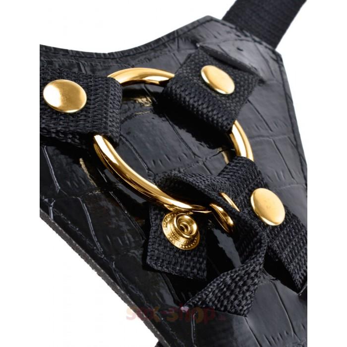 Fetish Fantasy Gold Designer Strap-On - дизайнерский страпон, 16,5х4,5 см.