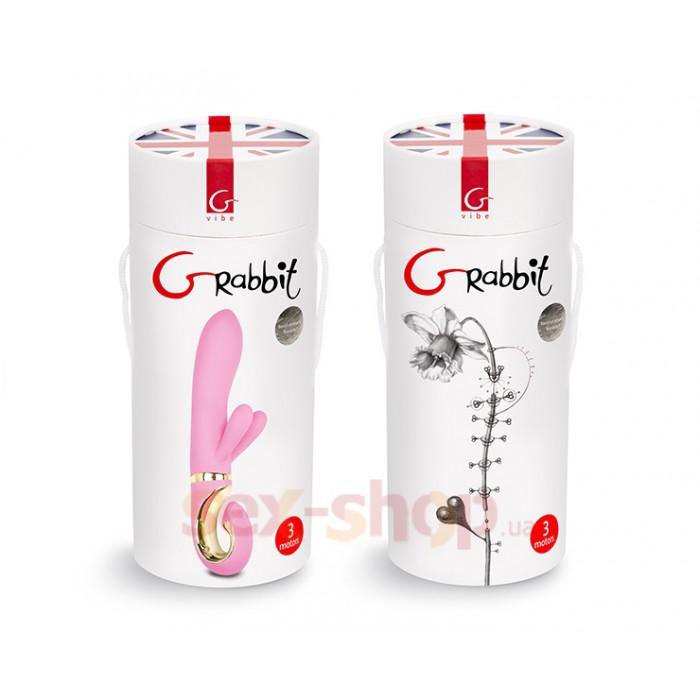 Gvibe Grabbit - Candy Pink вибратор-кролик с тремя моторчиками, 18х3.5 см.