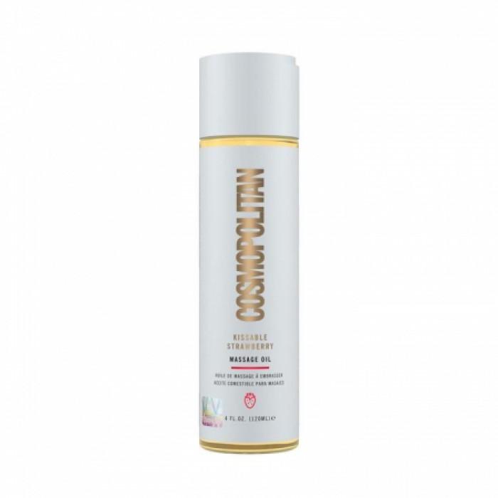Cosmopolitan Kissable Massage Oil Vanilla - съедобное массажное масло клубника, 120 мл