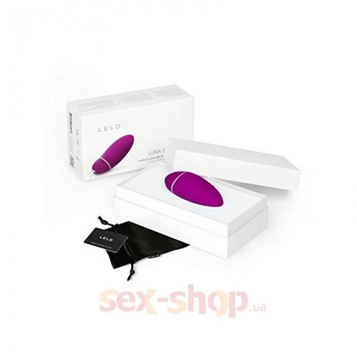 Lelo Luna Smart Bead Deep Rose - вагинальный тренажер с вибрацией, 8,2х3,4 см