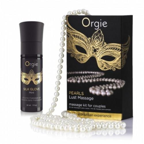 Orgie Pearl Lust Massage набор для интимного массажа гель и бусы, 15 мл