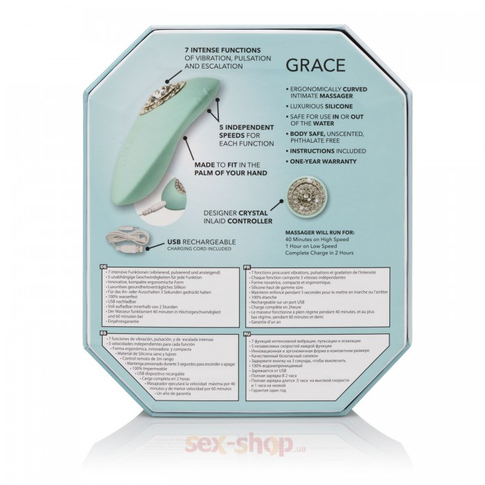 CalExotics Pave Grace вибратор для клитора, 10,25 см
