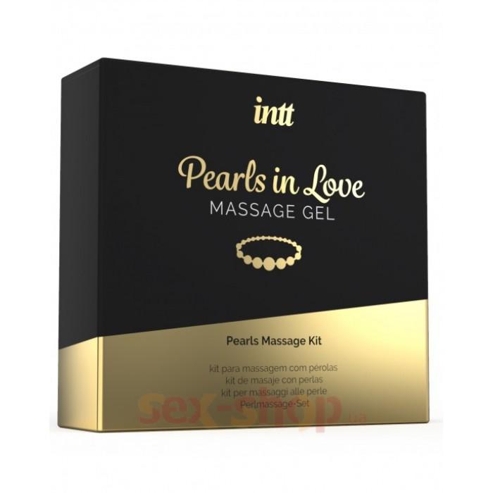 Intt Perls Love - набор для интимного массажа с жемчужным ожерельем, 15 мл