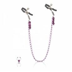 CalExotics Purple Chain Nipple Clamps зажимы для сосков