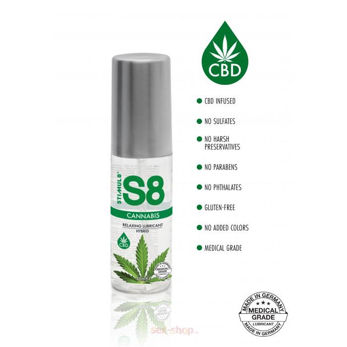 S8 Hybrid Cannabis Lube - интимная смазка на гибридной основе, 50 мл