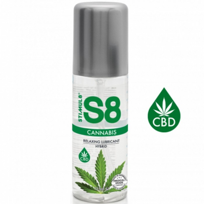 S8 Hybrid Cannabis Lube - интимная смазка на гибридной основе, 125 мл
