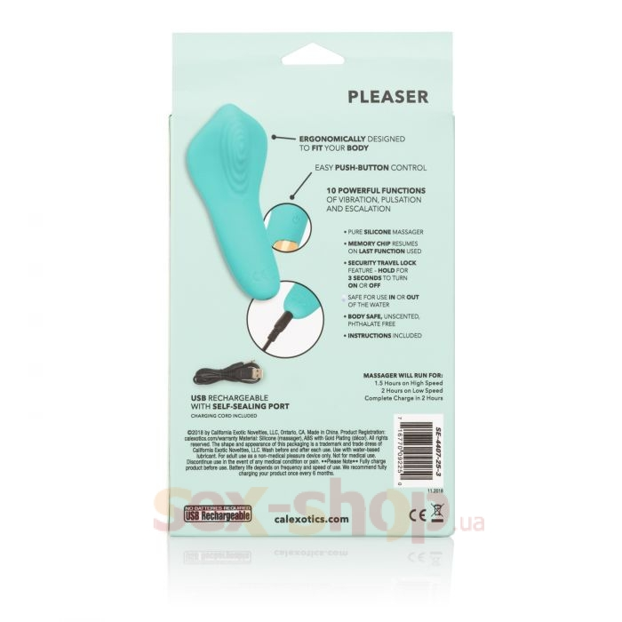 CalExotics Slay Pleaser вибромассажер для клитора, 11,5х5 см
