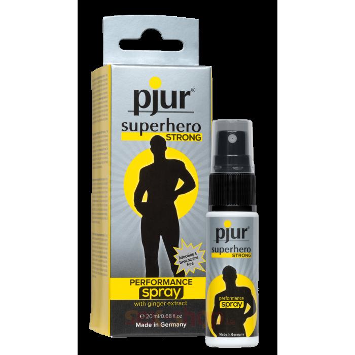 Pjur Superhero Strong performance Spray - пролонгирующий спрей, 20 мл