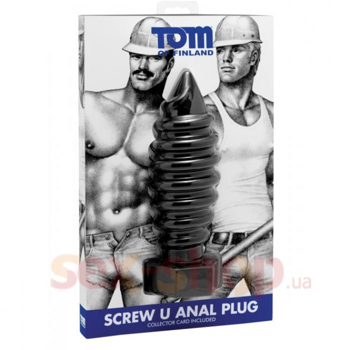 Анальная пробка Tom of Finland Screw U Anal Plug, 19х7 см