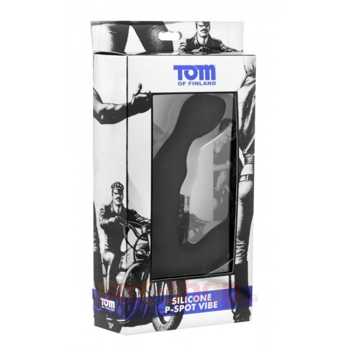 Массажер простаты Tom of Finland Silicone P-Spot Vibe, 12х3 см