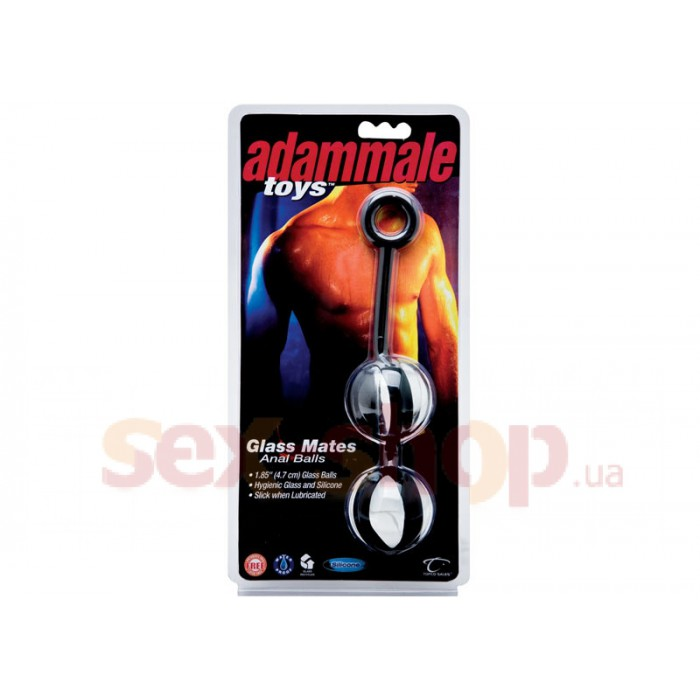 Анальные шарики Adam Male Toys™ Glass Mates Anal Balls