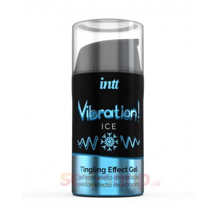 Intt Vibration Ice - жидкий вибратор со вкусом мяты, 15 мл
