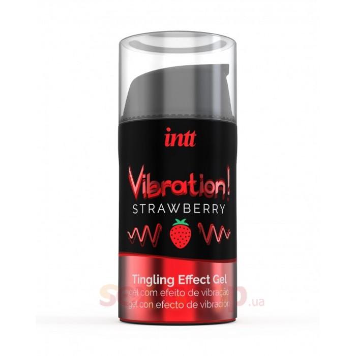 Intt Vibration Strawberry - жидкий вибратор со вкусом клубники, 15 мл