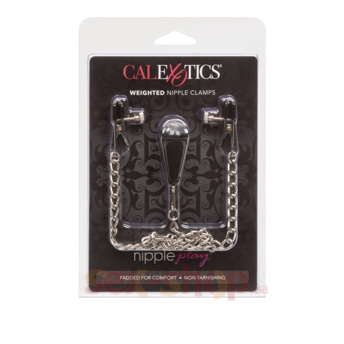 CalExotics Weighted Nipple Clamps - зажимы для сосков с подвеской